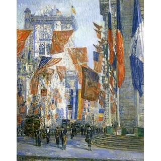 The Museum Outlet - Avenue of the Allies 02, 1918 - Poster Print Online Buy (24 X 32 Inch)