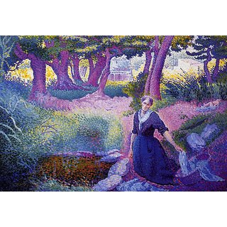 The Museum Outlet - The Washerwoman, 1895-96 - Poster Print Online Buy (24 X 32 Inch)
