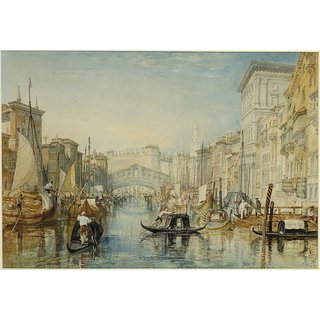 The Museum Outlet - Venice, The Rialto, 1821-23 - Poster Print Online Buy (24 X 32 Inch)