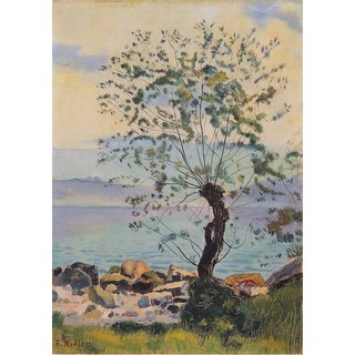 The Museum Outlet - Weidebaum am See, 1890 - Poster Print Online Buy (24 X 32 Inch)