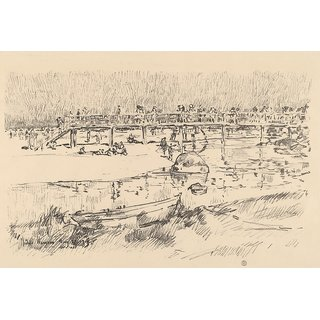The Museum Outlet - Bathing Beach, Bass Rocks, 1918 - Poster Print Online Buy (24 X 32 Inch)