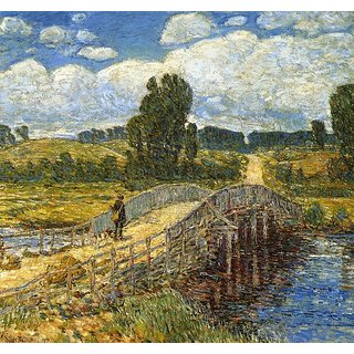 The Museum Outlet - Bridge at Old Lyme, 1908 - Poster Print Online Buy (24 X 32 Inch)