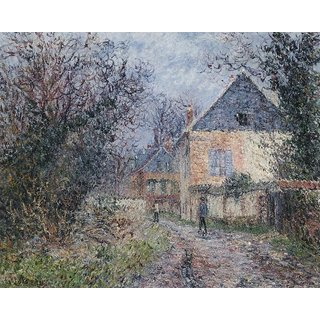 The Museum Outlet - Houses near the Eure - Poster Print Online Buy (24 X 32 Inch)