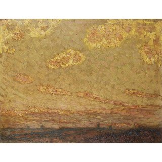 The Museum Outlet - Sunset, Gerberoy, 1913 (Christies Vers.) - Poster Print Online Buy (24 X 32 Inch)