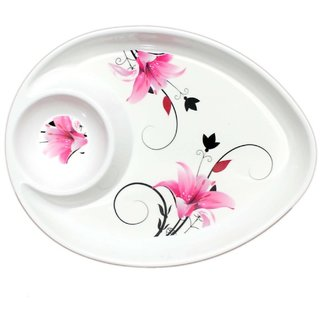 Glasified Round Dip  Eat Plate OP502 (Pack Of 1)