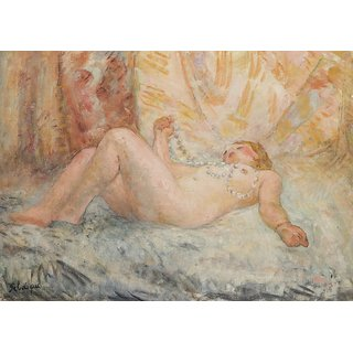 The Museum Outlet - Nude with Collier of Pearls, 1930 - Poster Print Online Buy (24 X 32 Inch)