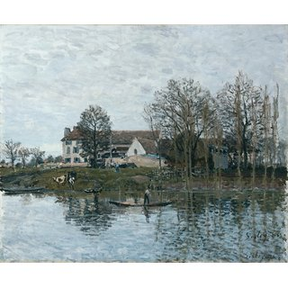 The Museum Outlet - The Seine at Port-Marly, 1875 - Poster Print Online Buy (24 X 32 Inch)