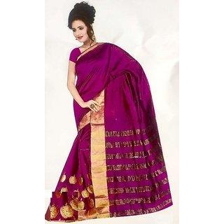 Lulu sarees Pink Brocade Mysore Silk