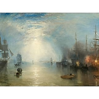 The Museum Outlet - Turner -  Heaving Coals by Moonlight - Poster Print Online Buy (24 X 32 Inch)