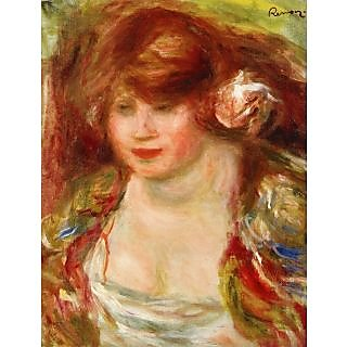 The Museum Outlet - Woman Wearing a Rose - Andree, 1919 - Poster Print Online Buy (30 X 40 Inch)