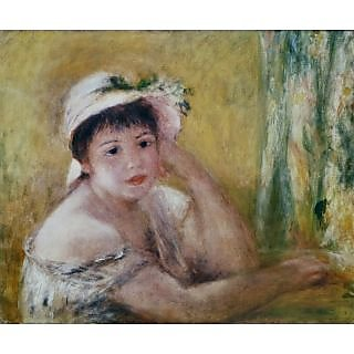The Museum Outlet - Woman with a Straw Hat, 1880 - Poster Print Online Buy (30 X 40 Inch)