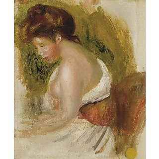 The Museum Outlet - Young Woman with Naked Brest - Poster Print Online Buy (30 X 40 Inch)