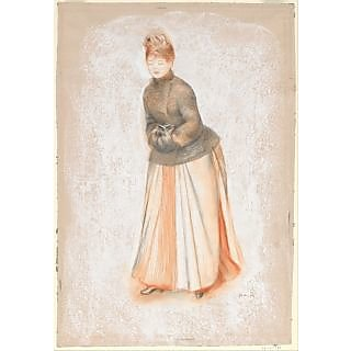 The Museum Outlet - Young Woman with a Muff - Poster Print Online Buy (30 X 40 Inch)