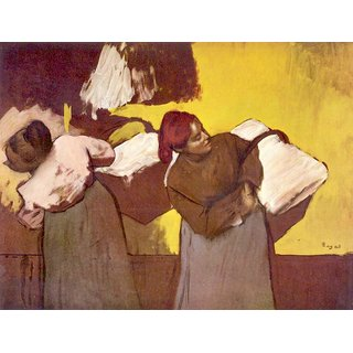 The Museum Outlet - Two washer women by Degas - Poster Print Online Buy (24 X 32 Inch)