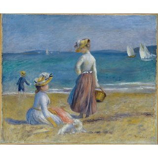 The Museum Outlet - Figures on the Beach, 1890s - Poster Print Online Buy (30 X 40 Inch)