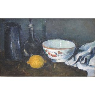 The Museum Outlet - Still Life in Blue with Lemon, 1873-77 - Poster Print Online Buy (24 X 32 Inch)