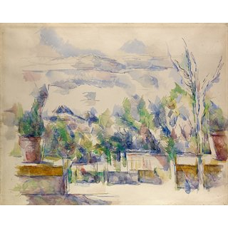 The Museum Outlet - The Garden Terrace at Les Lauves, 1902-06 - Poster Print Online Buy (24 X 32 Inch)