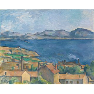 The Museum Outlet - The Gulf of Marseille Seen from L'Estaque, 1886 - Poster Print Online Buy (24 X 32 Inch)