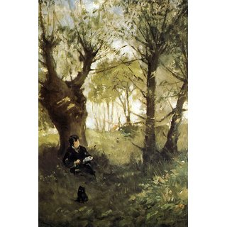 The Museum Outlet - Scene in Auvers by Morisot - Poster Print Online Buy (24 X 32 Inch)
