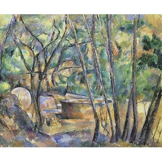 The Museum Outlet - Well, Millstone and Cisterne under the Trees, 1892 - Poster Print Online Buy (24 X 32 Inch)
