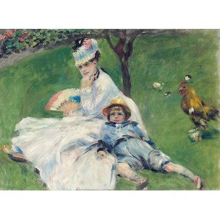 The Museum Outlet - Camille Monet and Her Son Jean in the Garden at Argenteuil, 1874 - Poster Print Online Buy (24 X 32 Inch)