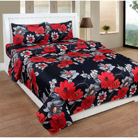 BSB Trendz 3D Double Bedsheet With 2 Pillow Covers