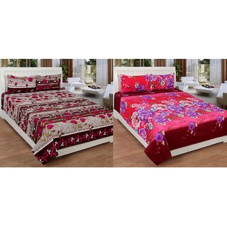 BSB Trendz Double 3D Bed Pollycotton Bedsheet