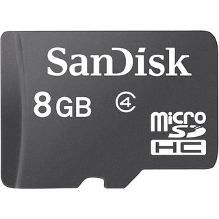 SanDisk Basic 8   GB MicroSDHC Class 4 20 MBs Memory Card available at ShopClues for Rs.499