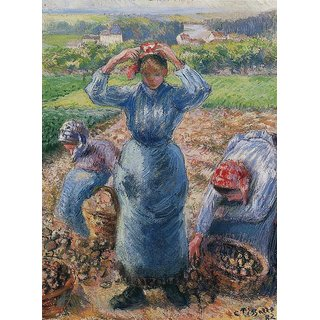 The Museum Outlet - Peasants Harvesting Potatoes, 1882 - Poster Print Online Buy (24 X 32 Inch)