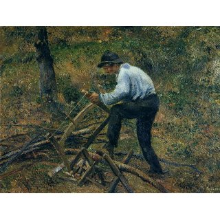 The Museum Outlet - Pere Melon Sawing Wood, 1879 - Poster Print Online Buy (24 X 32 Inch)