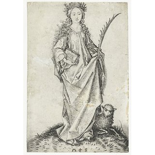 The Museum Outlet - Saint Agnes. 1470-1490 - Poster Print Online Buy (30 X 40 Inch)
