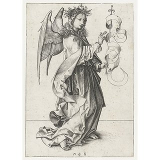The Museum Outlet - The angel Gabriel. ca. 1485 - ca. 1490 - Poster Print Online Buy (30 X 40 Inch)