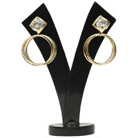GM International Golden Colour New Design Brass Earrings For Women (GM-EAR-61)