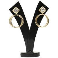 GM International Golden Colour New Design Brass Earrings For Women (GM-EAR-61)