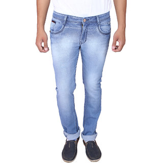 X20 Jeans Light Blue Denim Lycra Jeans for Men