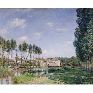 The Museum Outlet - Moret, Banks of Loing, 1892 - Poster Print Online Buy (30 X 40 Inch)