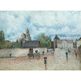 The Museum Outlet - Moret-sur-Loing, the Rain, 1887-88 - Poster Print Online Buy (30 X 40 Inch)