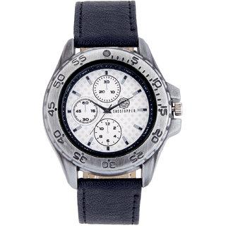 Shostopper Racer White Dial Analogue Watch For Men - SJ60025WM