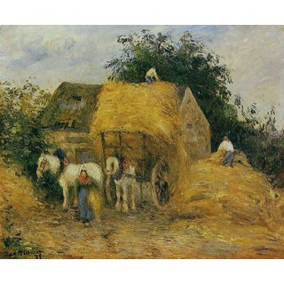 The Museum Outlet - The Hay Wagon, Montfoucault, 1879 - Poster Print Online Buy (24 X 32 Inch)