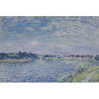 The Museum Outlet - Saint-Mammes in the Evening, 1885 - Poster Print Online Buy (30 X 40 Inch)