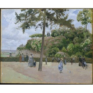 The Museum Outlet - The Public Garden at Pontoise, 1874 - Poster Print Online Buy (24 X 32 Inch)