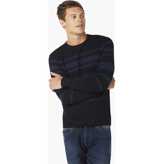 Celio Blue Long Sleeve Sweaters For men