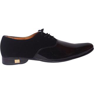 Mclaine Premium Black Velvet Shiny Design Party Wear Shoe