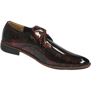 Mclaine Premium  Black Map Cherry Design Party Wear Shoes