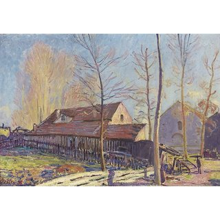 The Museum Outlet - The Mills of Moret, Frost, Evening Effect, 1888 - Poster Print Online Buy (30 X 40 Inch)