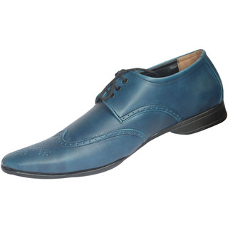 Mclaine Premium Blue Dotted Rough Design Party Wear Shoes