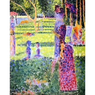 The Museum Outlet - A Sunday on La Grande Jatte, study for a pair by Seurat - Poster Print Online Buy (24 X 32 Inch)