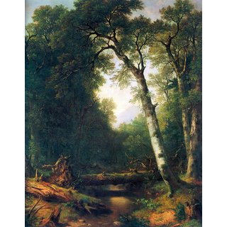 The Museum Outlet - A creek in the woods by Asher Brown Durand - Poster Print Online Buy (24 X 32 Inch)