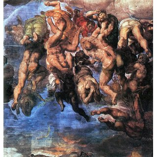 The Museum Outlet - A group fighting Damned by Michelangelo - Poster Print Online Buy (24 X 32 Inch)