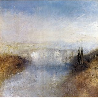The Museum Outlet - A river from a hill by Joseph Mallord Turner - Poster Print Online Buy (24 X 32 Inch)